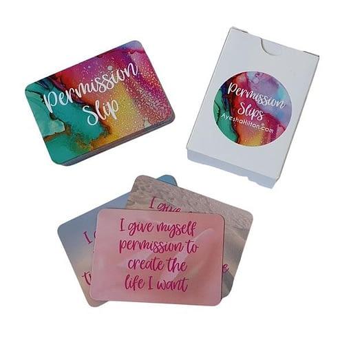 Brené Brown inspired Permission Slip Card Deck