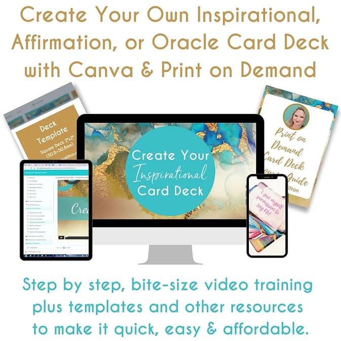Create your own oracle card deck